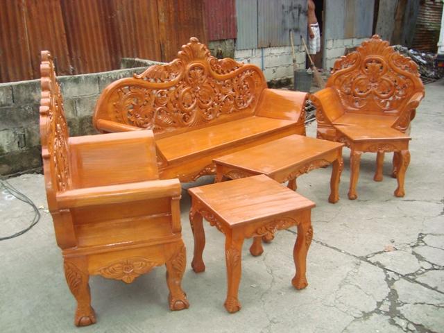 Wooden sala set for Sala set furniture